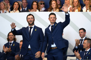 Jon Rahm and Justin Rose will kick things off for Team Europe (image source: Ross Kinnaird/Getty Images)