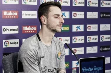 Fernando Calero en la rueda de prensa del Estadio José Zorrilla. Fotografía: Real Valladolid