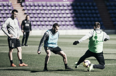 El equipo ya prepara para el partido del domingo. Fotografía: Real Valladolid