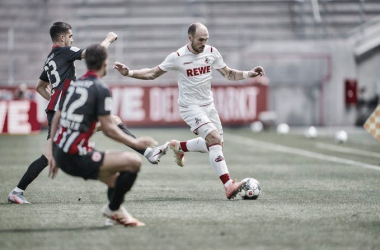 Colônia empata com Frankfurt e segue sem vencer desde o retorno da Bundesliga
