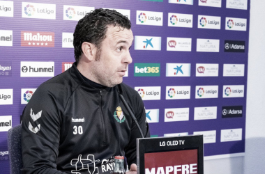 Sergio en rueda de prensa // FUENTE: Real Valladolid