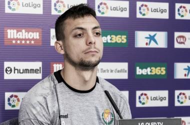 Óscar plano en la rueda de prensa del Estadio José Zorrilla | Fotografía: Real Valladolid