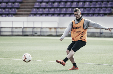 Sergi Guardiola en un entrenamiento // FUENTE: Real Valladolid