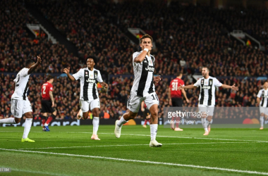 Dybala celebrates his winner against Manchester United at Old Trafford (Photo Source: Michael Regan / Getty Images)