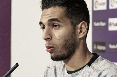 Anuar durante la rueda de prensa | Real Valladolid