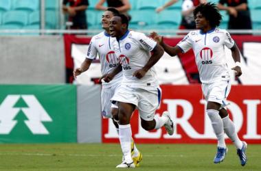 Obina fez oito gols pelo Bahia em sua passagem (Foto: Felipe Oliveira/EC Bahia/Divulgação)