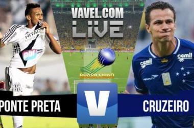 Resultado Ponte Preta x Cruzeiro no Campeonato Brasileiro (1-2)