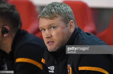 Grant McCann, Manager of Hull City during the Sky Bet Championship match between Nottingham Forest and Hull City at the City Ground, Nottingham on Wednesday 23rd October 2019. (Photo by Jon Hobley/MI News/NurPhoto via Getty Images)