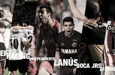 El Millo, la Academia, el Rojo, el Grana, el Xeneize y el Pincha, los seis equipos que quieren gritar campeón. (Foto: @santigarciarc)