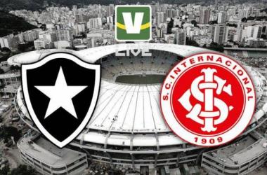 Botafogo - Internacional, assim acompanhamos