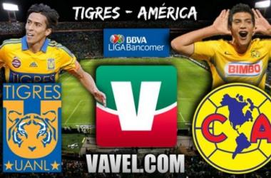 Resultado Tigres - América en Liga MX 2013 (2-2)