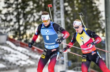 Duel au sommet entre Sturla Holm Laegreid et Johannes Boe.