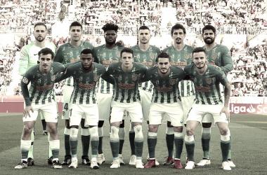 Los 11 titulares en Montilivi.<div>Imagen del Club Atlético de Madrid.</div>
