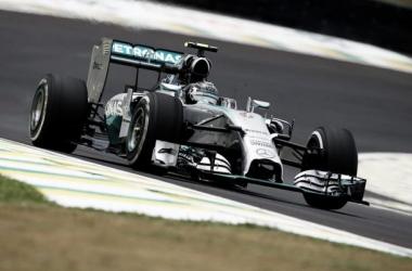 Rosberg apontou os melhores tempos em todas as sessões de treinos em Interlagos (Foto: Mercedes).