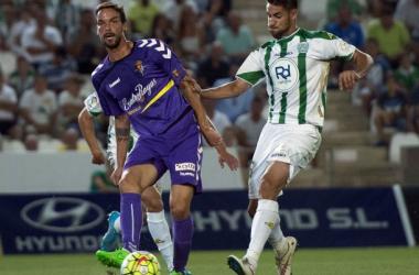 André Leao, en el primer partido liguero ante el Córdoba. (Fotografía: Real Valladolid).