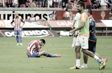 El Sporting cayó y era equipo de segunda una temporada más. | Foto: LaLiga