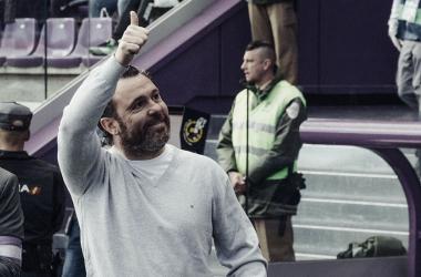 Sergio González en la zona técnica | Real Valladolid