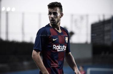 Carlos Javier Polo Jiménez 'Peque' en un partido con el Barça B durante la pasada temporada | Foto de Noelia Déniz, VAVEL