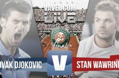 Resultado Djokovic - Wawrinka en la Final de Roland Garros 2015 (1-3)