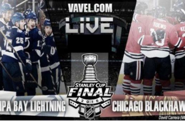 Score Tampa Bay Lightning - Chicago Blackhawks in NHL Stanley Cup Final Game 3 (3-2)