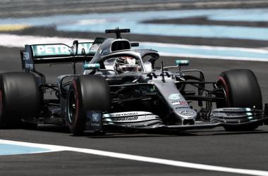 Hamilton transitando el circuito francés | Foto: Fórmula 1