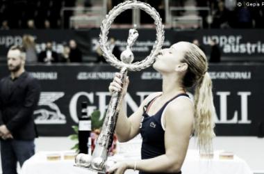 Cibulkova conquista seu terceiro título na temporada em Linz(Foto: WTA Divulgação)