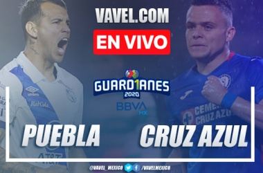 Goles y resumen: Puebla 1-1 Cruz Azul en Guard1anes 2020