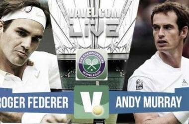 Murray - Federer en semifinales de Wimbledon 2015 (0-3)