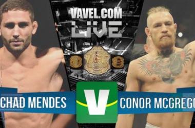 Resultados UFC 189: luta Chad Mendes - Conor McGregor 2015