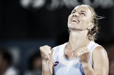 Kuznetsova alcança sua primeira vitória da carreira em umWTA Finals (Foto: WTA/Divulgação)