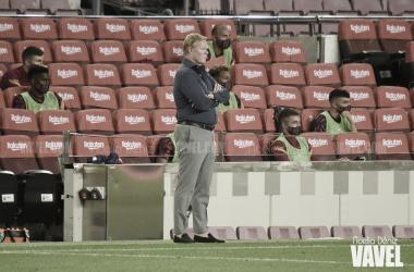 Ronald Koeman en un partido durante la presente temporada | Foto de Noelia Déniz (VAVEL)