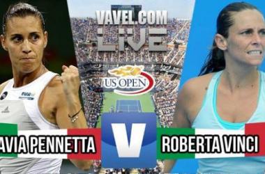 Score Roberta Vinci - Flavia Pennetta Of The 2015 US Open Women's Final (0-2)