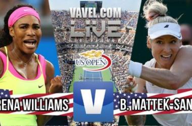 Score Serena Williams Vs Bethanie Mattek-Sands Of The 2015 US Open Third Round (2-1)