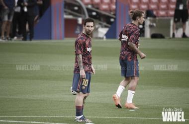 Leo Messi y Griezmann ante el Elche | Foto: Noelia Déniz (VAVEL)