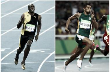 Usain Bolt, campeón de los 100m; Wayde Van Niekerk, plusmarquista de los 400m. Fotos: Harry How y Patrick Smith.
