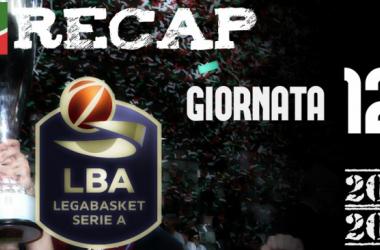 Legabasket: risultati e tabellini della dodicesima giornata