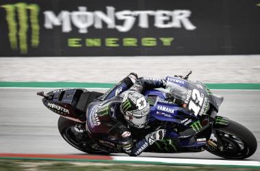 Maverick Viñales durante el Gran Premi Monster Energy de Catalunya 2020 / Fuente: motogp.com