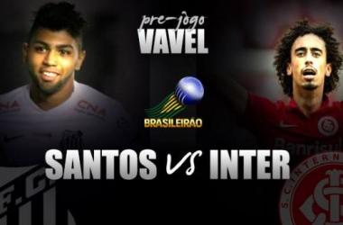 Pré-jogo: Santos e Internacional fazem confronto para se reaproximar da última vaga no G-4