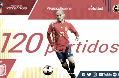 Silva ha llegado a los 120 partidos con la Roja. / FOTO: RFEF