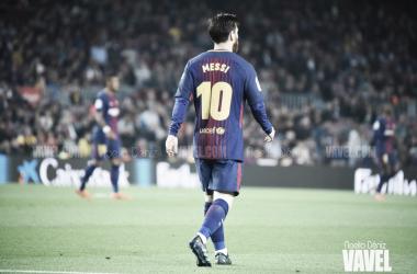 Leo Messi con la elástica blaugrana   Foto de Noelia Déniz, VAVEL