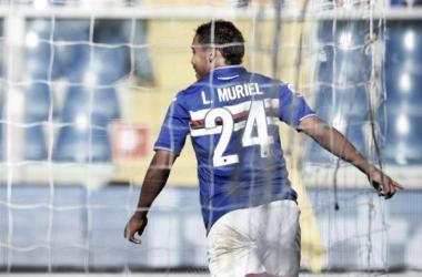 Luis Muriel, la figura 'cafetera' de la jornada 7 en la Serie A