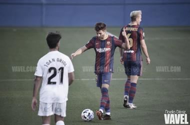 Primer triunfo del curso del Barça B ante el Nàstic