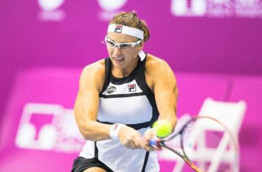 Yaroslava Shvedova in action in Taipei/OEC Taipei WTA Challenger