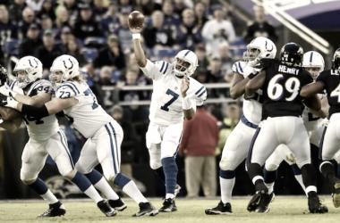 La defensa de los Ravens apareció sobre el final para ganar ante su gente (Foto: Colts.com)