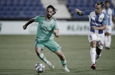 Isco en un partido ante el Leganés | Foto: Real Madrid C.F.