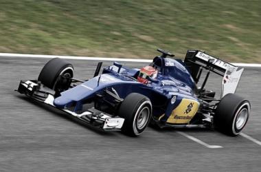 O estreante Felipe Nasr colocou o Sauber C34 no topo da tabela de tempos (foto: Autosport.com)