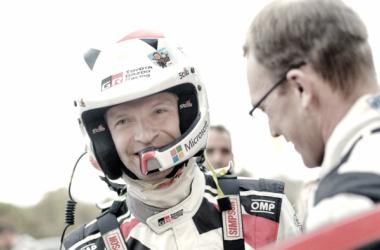 Juho Hännien en el Rally Catalunya / foto vía: wrc,com