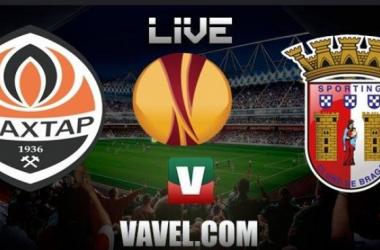 Resultado Sp Braga x Shakhtar Donetsk em Liga Europa 2015/2016 (1-2)