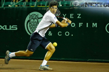 Hyeon Chung in action against Tommy Paul (Photo:Aaron M. Spreche/ROCC)