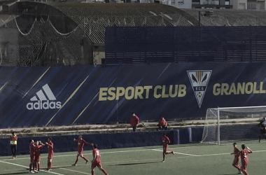 Celebración del tercer gol | Foto: Daniel Alcaraz